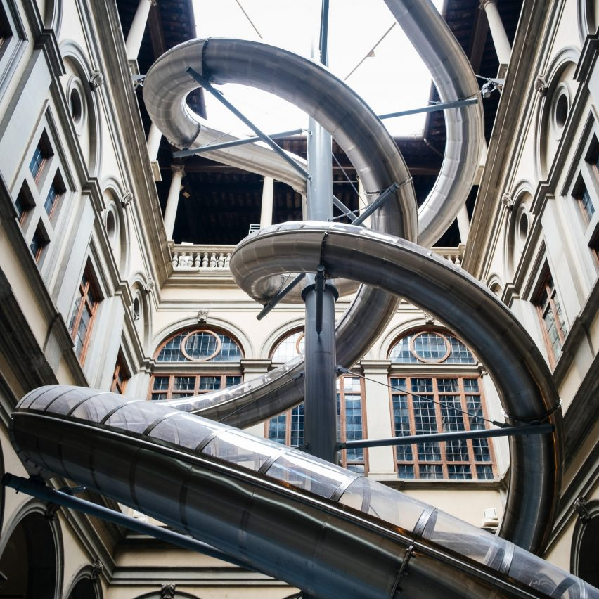 Carsten Höller installs slide experiment in Florentine palazzo