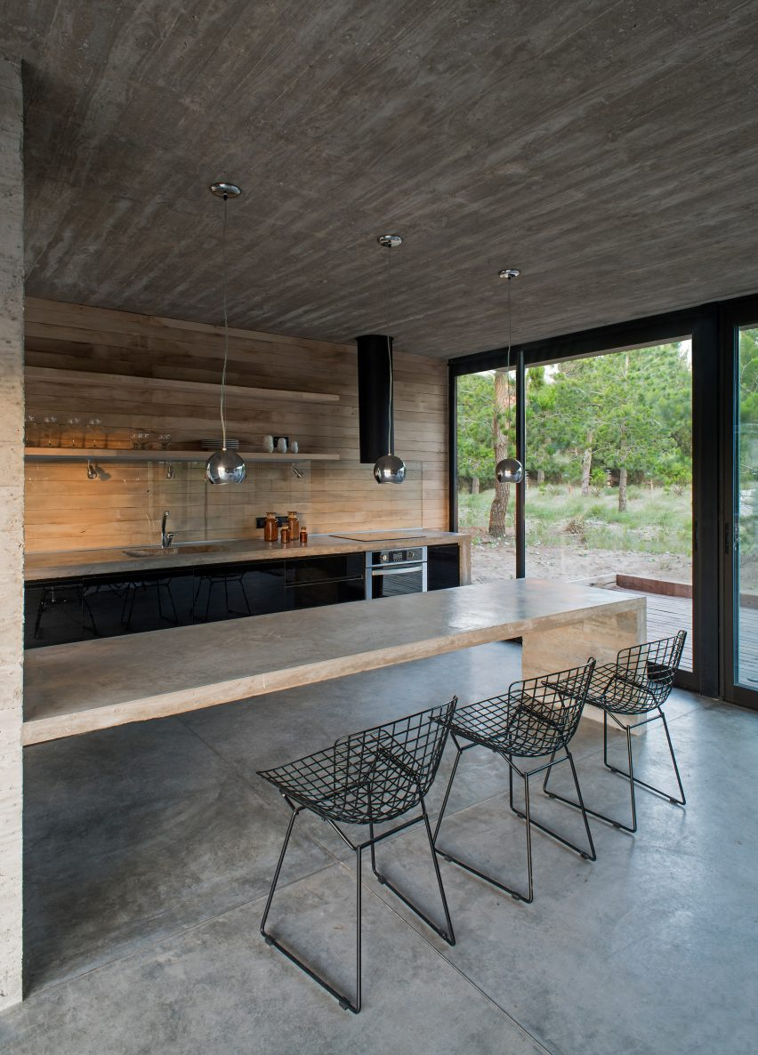 Luciano Kruk Includes Blackened Wood And Patios At Argentinian Home