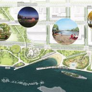 Detroit West Riverfront Park by MVVA and David Adjaye