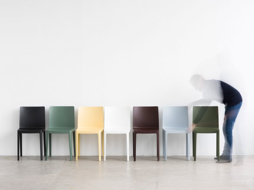 Bouroullec brothers design low-cost Élémentaire chair for Hay