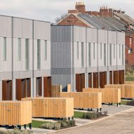 TV presenter George Clarke and TDO unveil terrace of prefabricated Fab Houses
