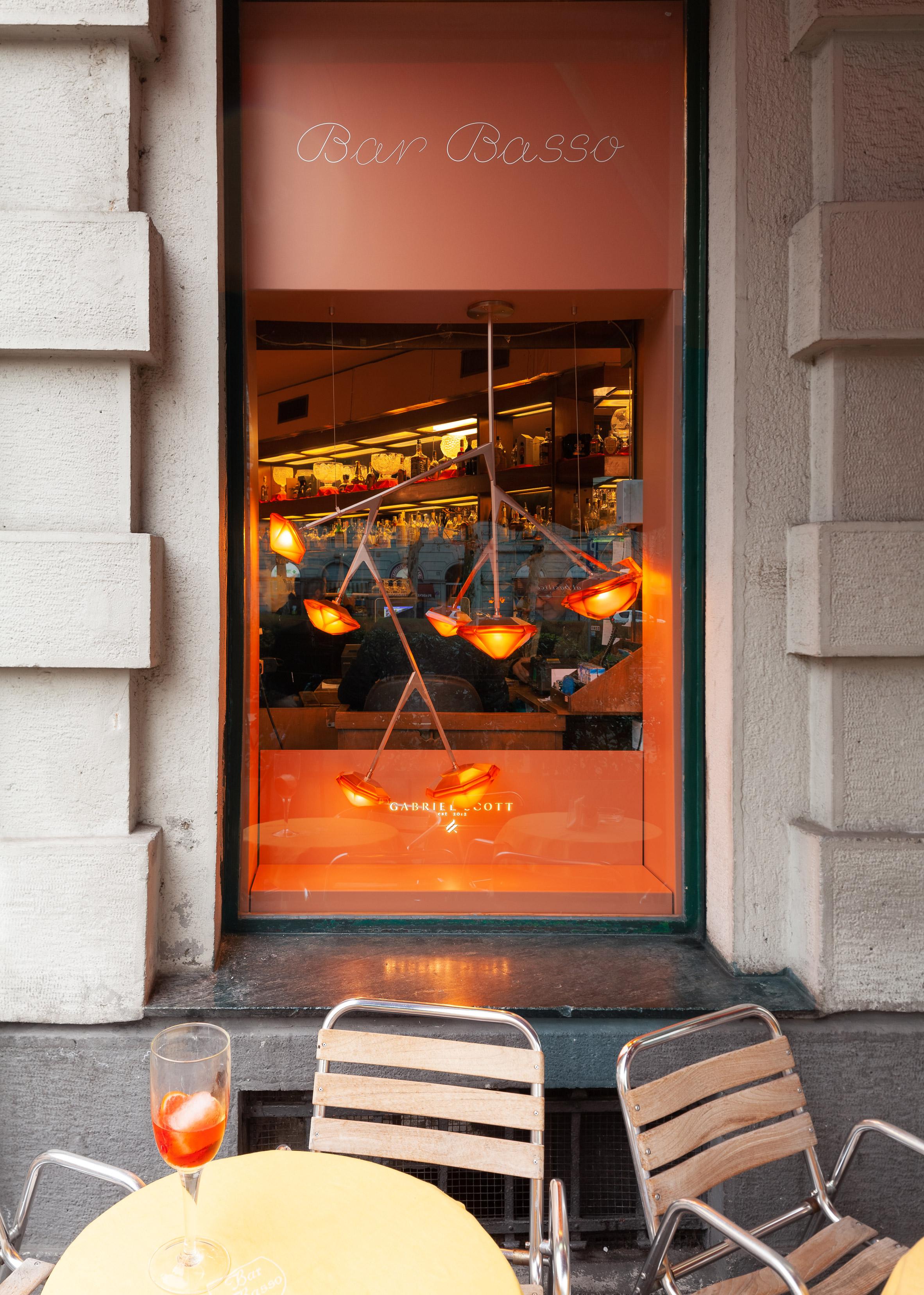 Gabriel Scott installs cocktail-inspired lights at Milan's infamous Bar Basso