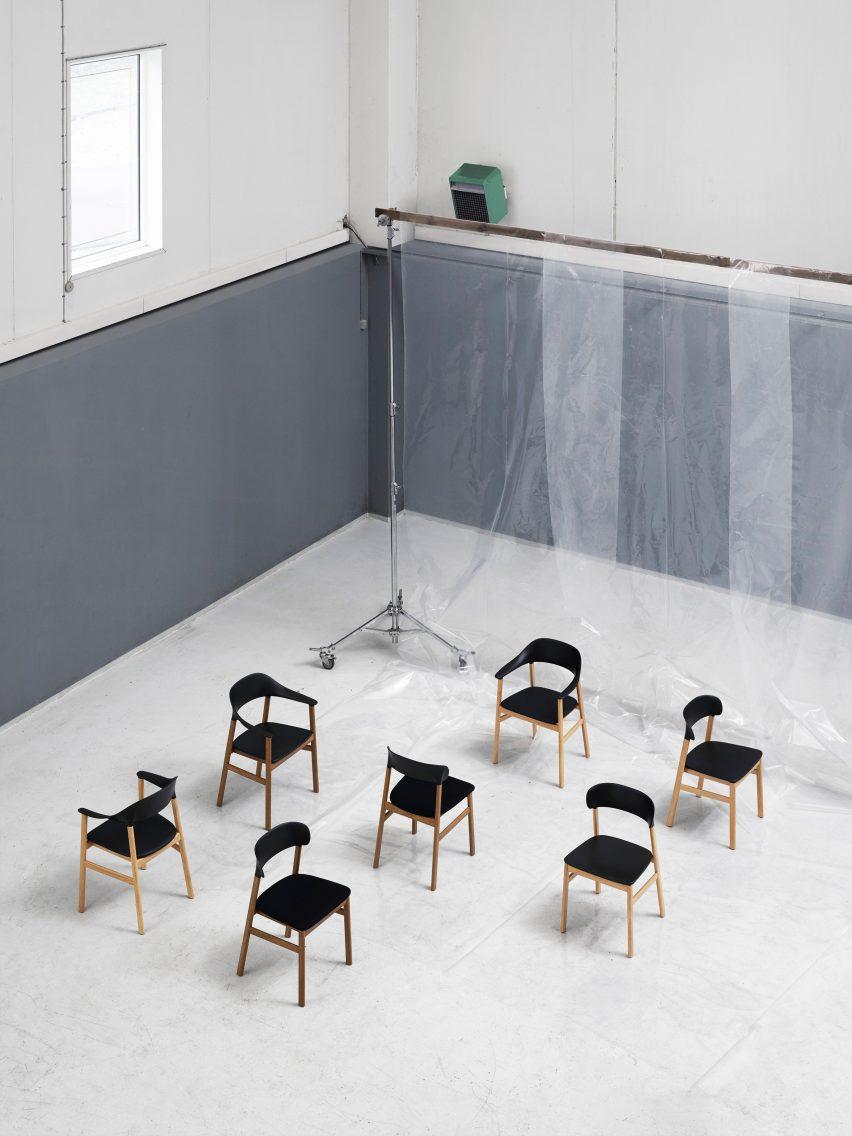 """Simon Legald's Herit chair for Normann Copenhagen is """"draped in nostalgia"""""""