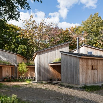 Timber Volumes Form Live Work Spaces For Artist And Architect In Rural Japan
