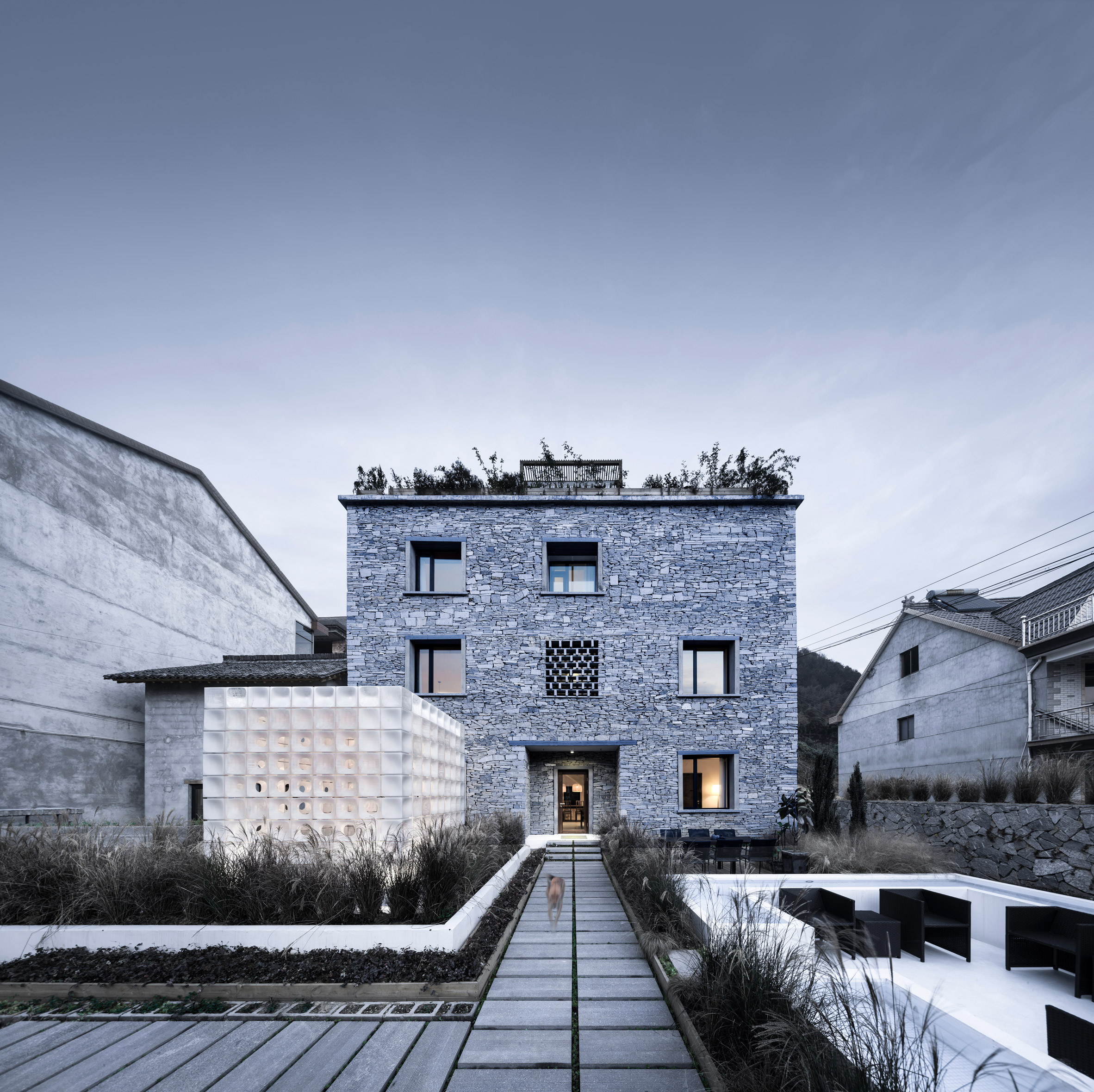 AZL Architects Creates 3D Printed Pavilion Alongside Stone House In Chinese  Village