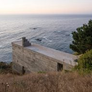 Narrow concrete house by Pezo von Ellrichshausen juts towards the Pacific Ocean