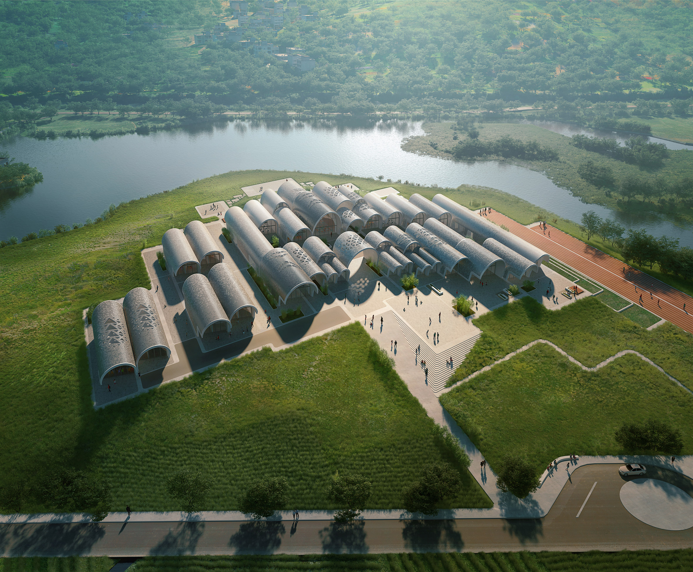 Zaha Hadid Architects will use robots to build barrel-vaulted school in rural China