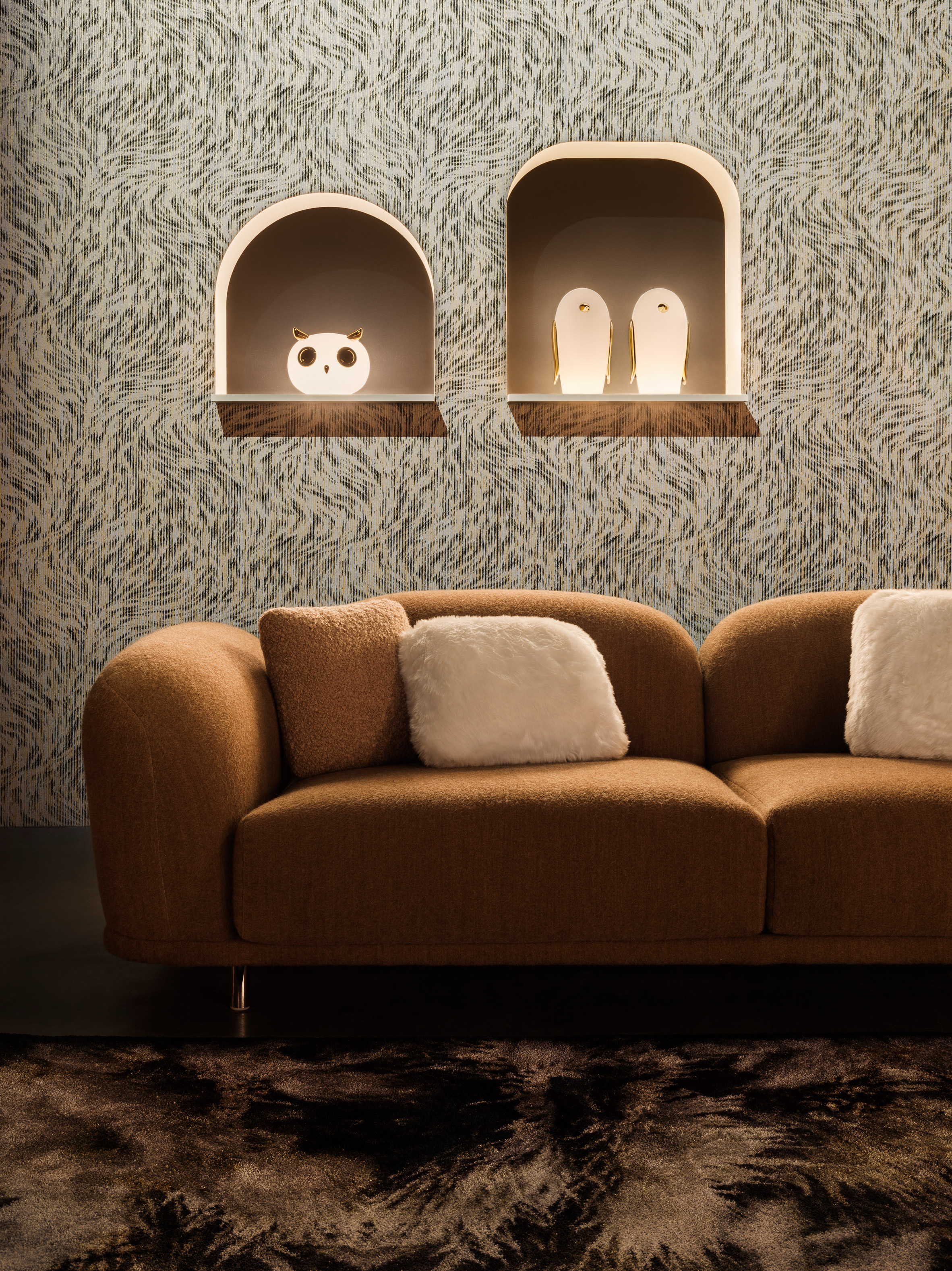 Moooi wallpaper inspired by drawings of extinct animals