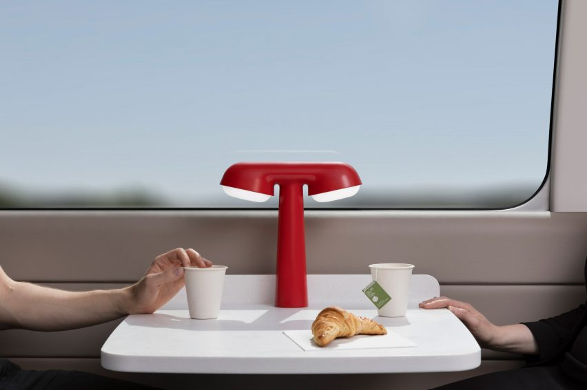 Lamp For French National Railway, Train Table Lamp