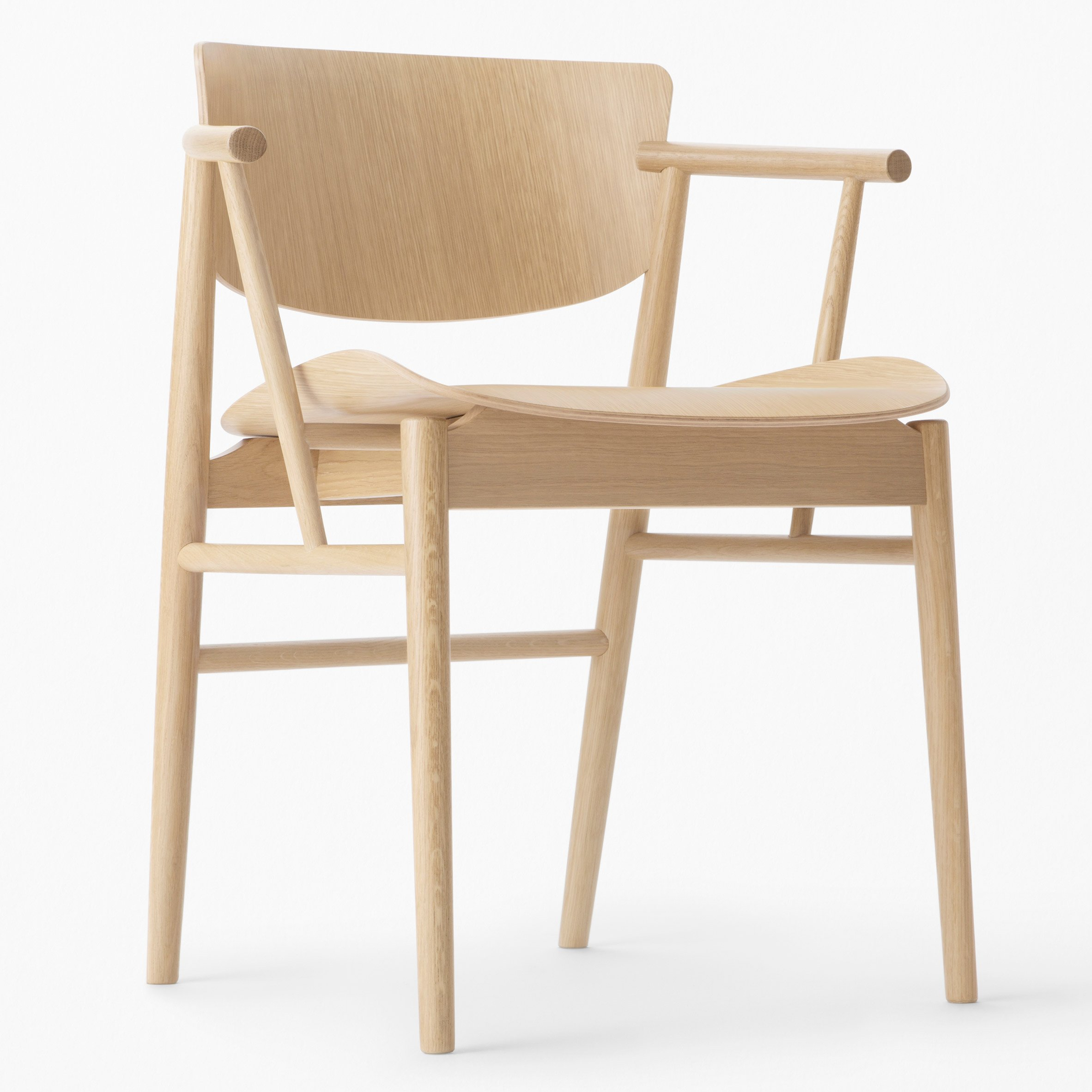 Nendo Designs First Entirely Wooden Chair For Fritz Hansen In 61 Years