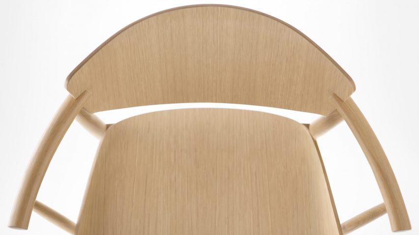 Nendo designs Fritz Hansen's first entirely wooden chair for 61 years