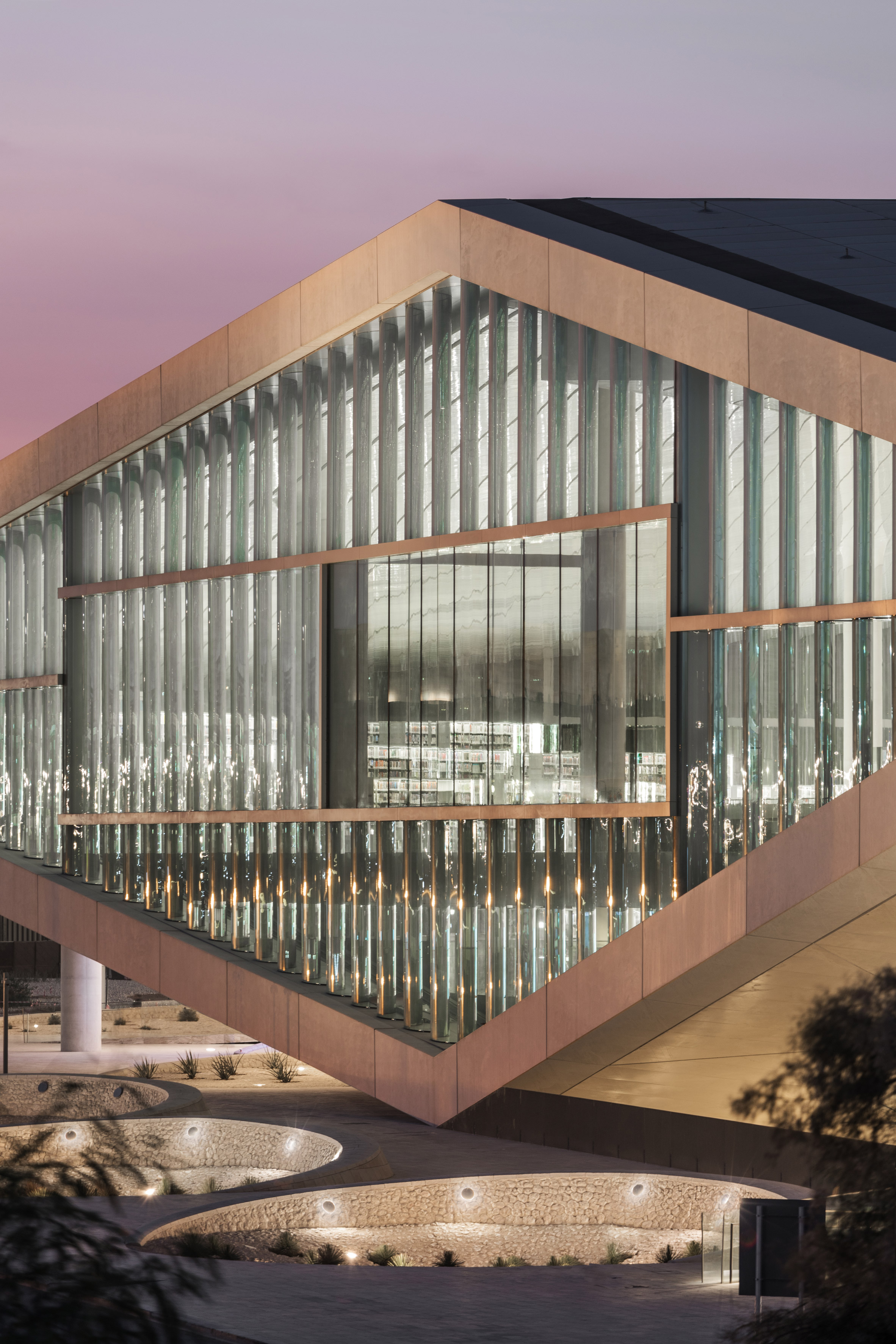 3novices oma s qatar national library opens in doha for Architecture firms in qatar