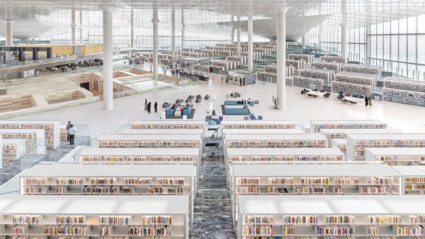 Oma s qatar national library opens in doha