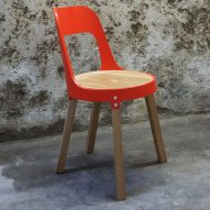 Christophe Machet uses CNC-cut sewage pipes to create his Pipeline chairs
