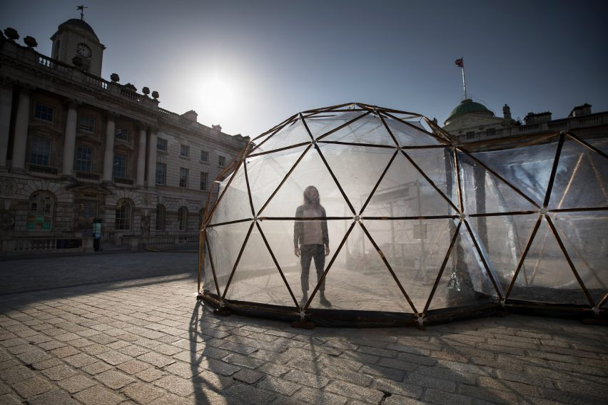 Pollution Pods by Michael Pinsky at Somerset House