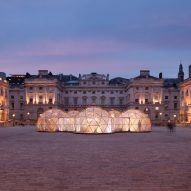 Pollution-filled domes installed at London's Somerset House