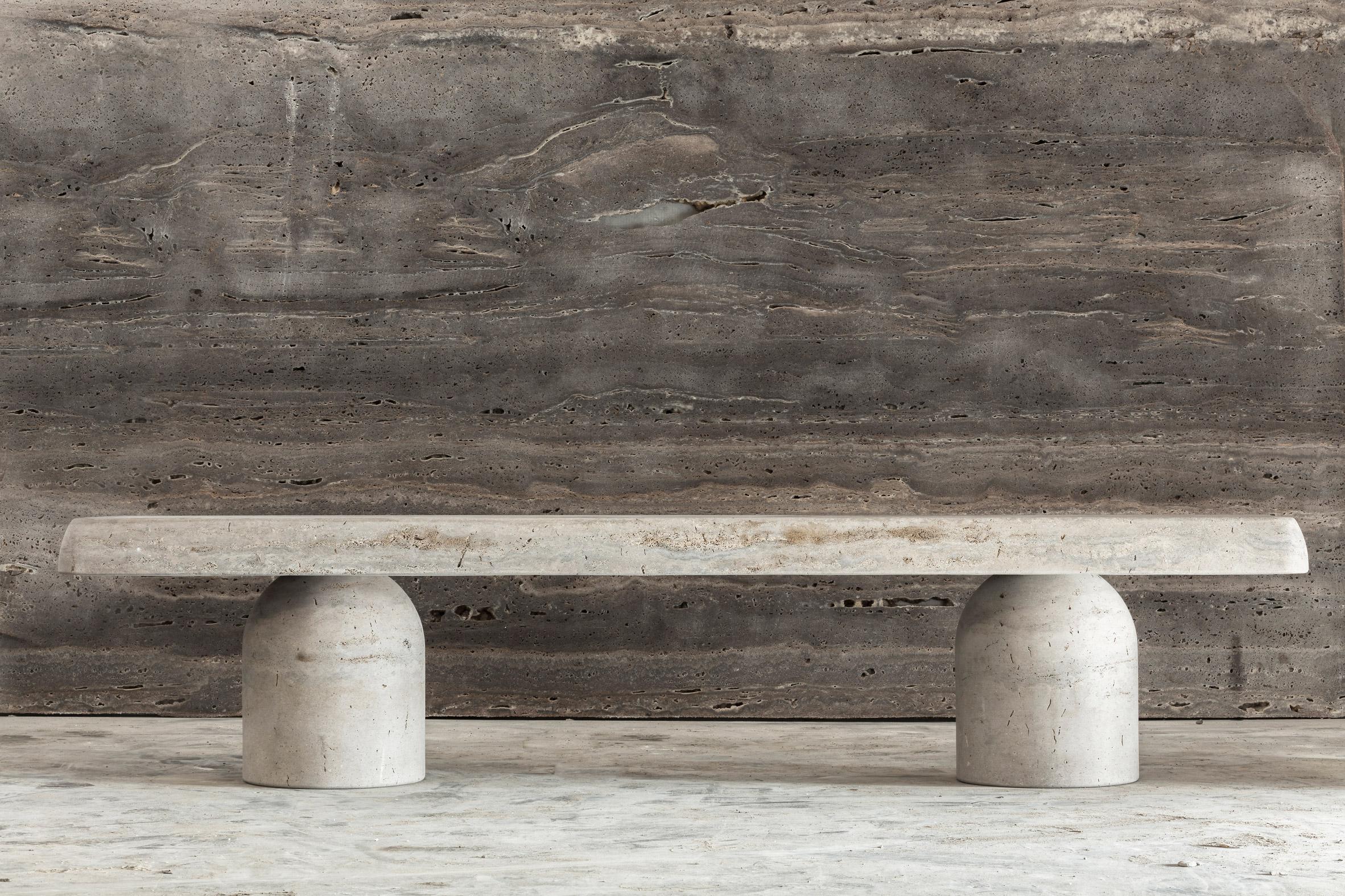Studio Twenty Seven Showcases Furniture Made Entirely From Italian Limestone