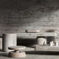 Studio Twenty Seven showcases furniture made entirely from Italian limestone