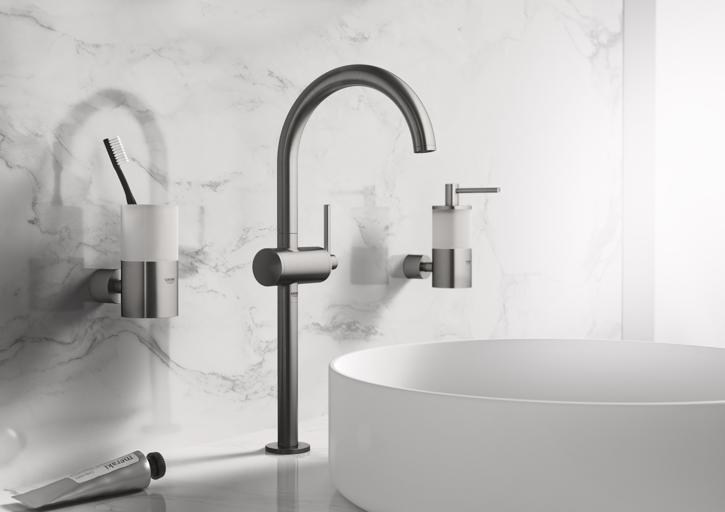 Grohe to present minimalist bathroom faucets at Milan design week ...