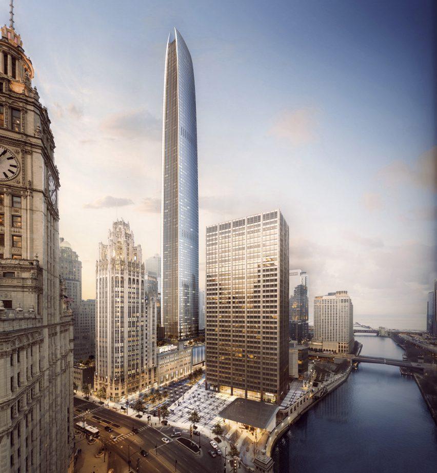 Tribune Tower by Adrian Smith Gordon Gill Architecture