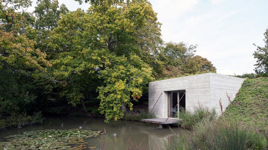 Carmody Groarke creates two ruin-like pavilions in the grounds of English country home