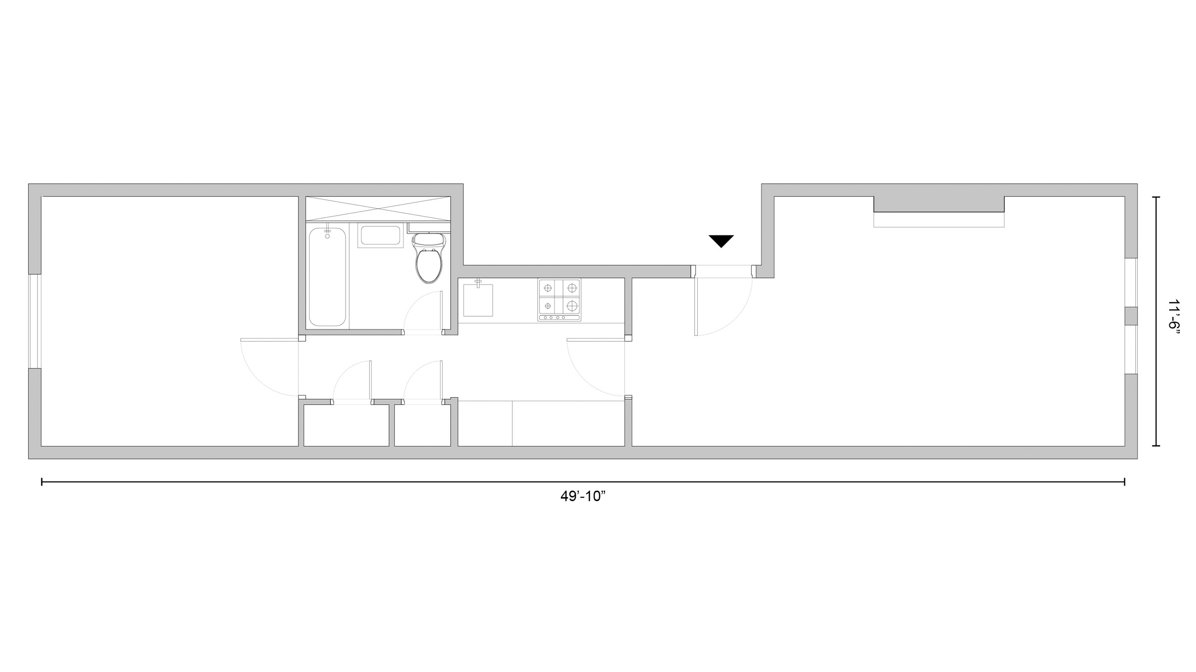 Floor Plan After Renovation West Chelsea Apartment By BoND