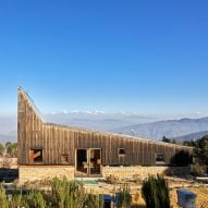 Matra Architects creates holiday home with peaked roof and Himalayan views
