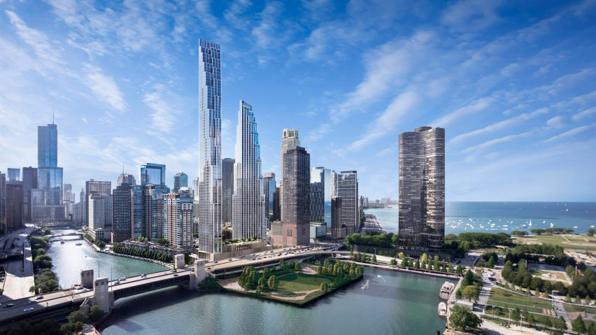 Pair Of Skyscrapers Proposed For Site Of Calatravas Doomed Chicago