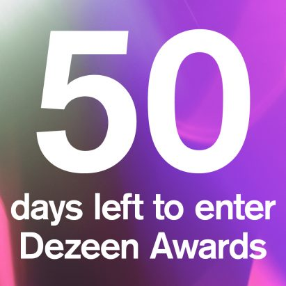 The countdown is on: 50 days to enter Dezeen Awards