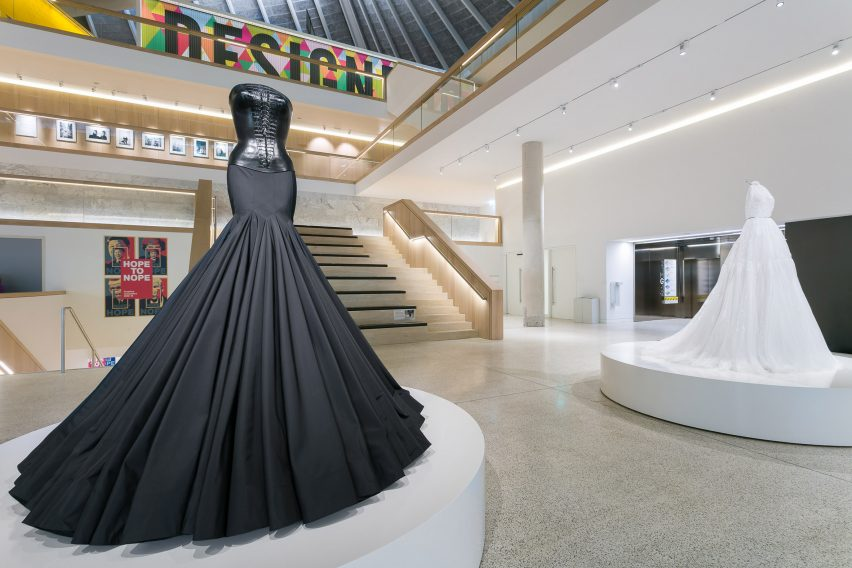 Azzedine Alaia S Design Museum Exhibition Teams Garments With Custom Made Screens