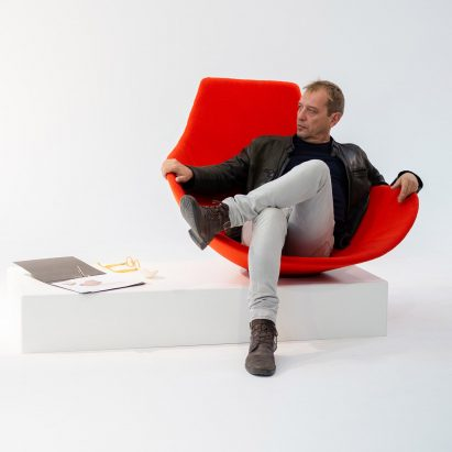 Emmanuel Babled remodels art sculpture as a chair for Offecct