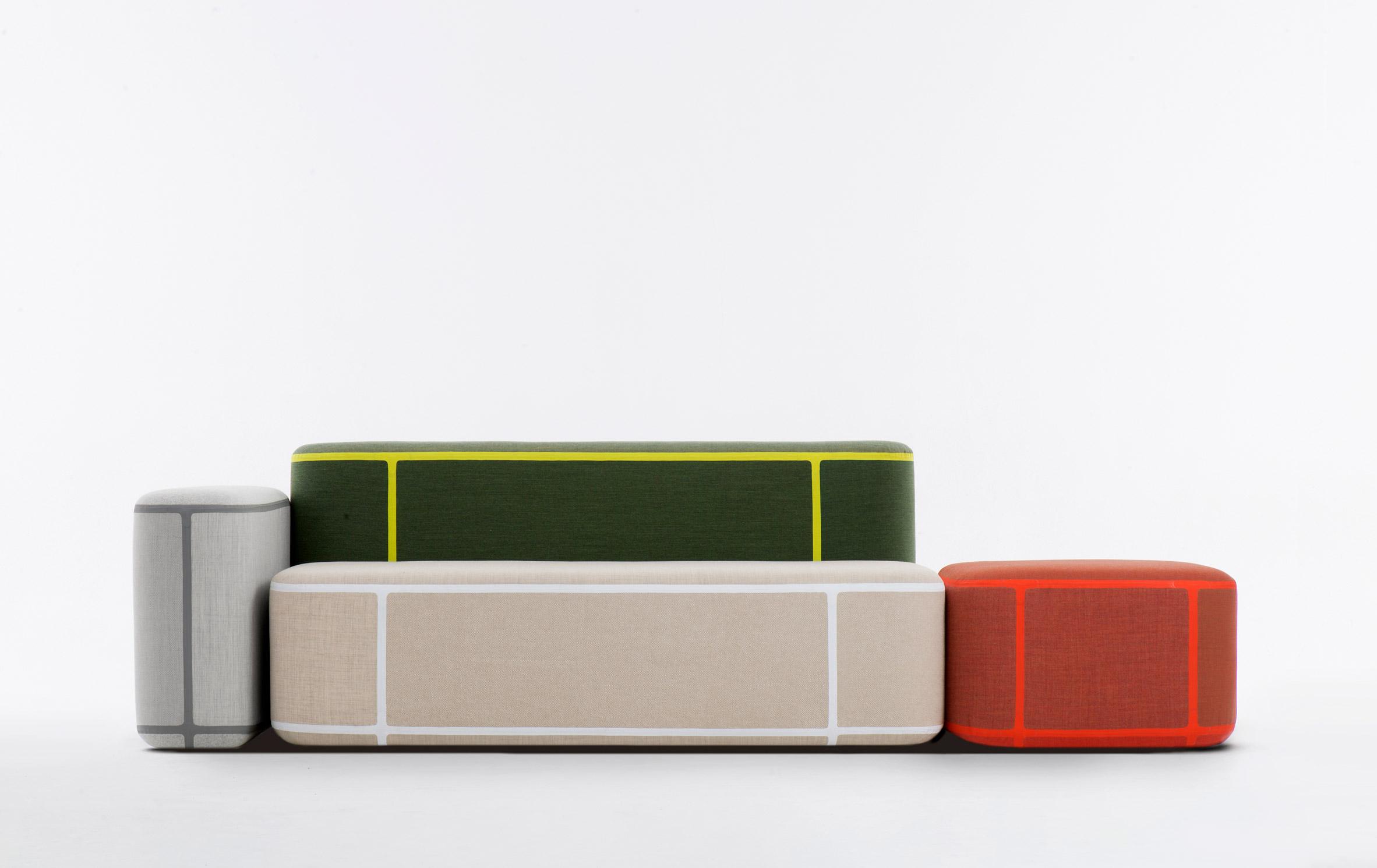 Benjamin Hubert's modular furniture introduces new method of bonding textiles