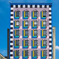 Camille Walala covers Brooklyn building in colourful Memphis-style graphics