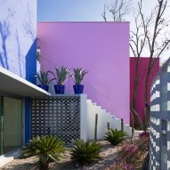Colourful Barragán-esque house by Moneo Brock wraps four trees in Mexico