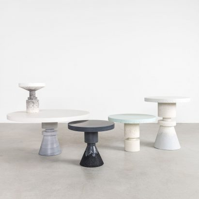 table design bedroom anna karlin and fernando mastrangelo combine efforts for chunk tables table design dezeen