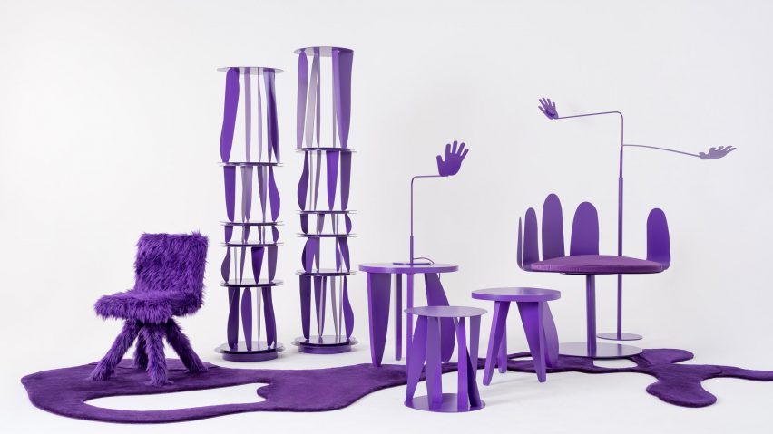 purple furniture. Crosby Studios\u0027 All-purple Furniture Collection Includes Recurring Hand Shapes Purple C