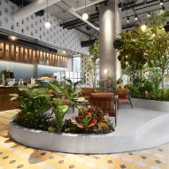 LOT creates tropical garden within Brooklyn coffee house Devoción