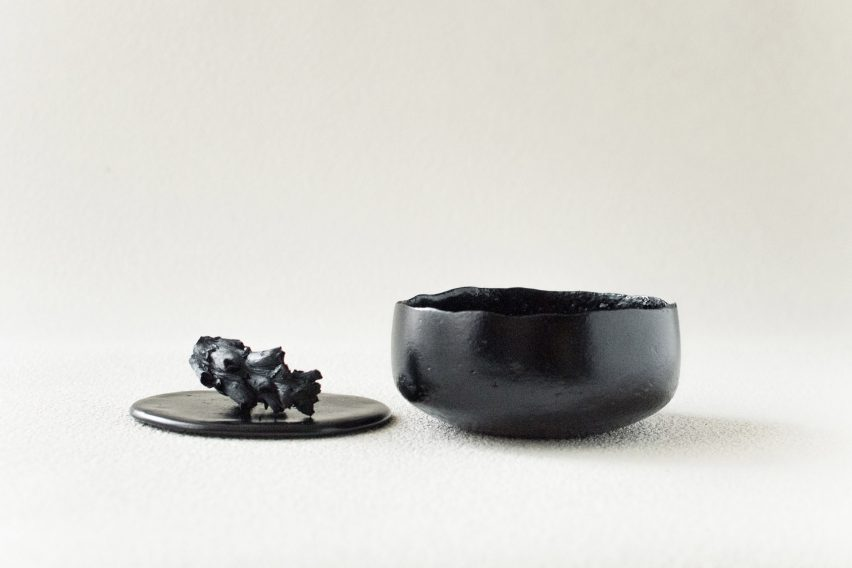RCA graduate Kosuke Araki has created a range of tableware from recycled food waste.
