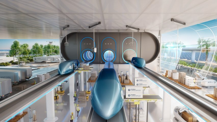 Foster + Partners presents vision for hyperloop cargo network