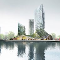 XTU Architects proposes algae-covered towers for Hangzhou