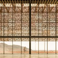 Groupe3Architectes wraps Guelmim Airport in a skin of multihued perforated panels