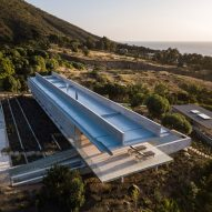 Felipe Assadi's linear H House stretches along the Chilean coast