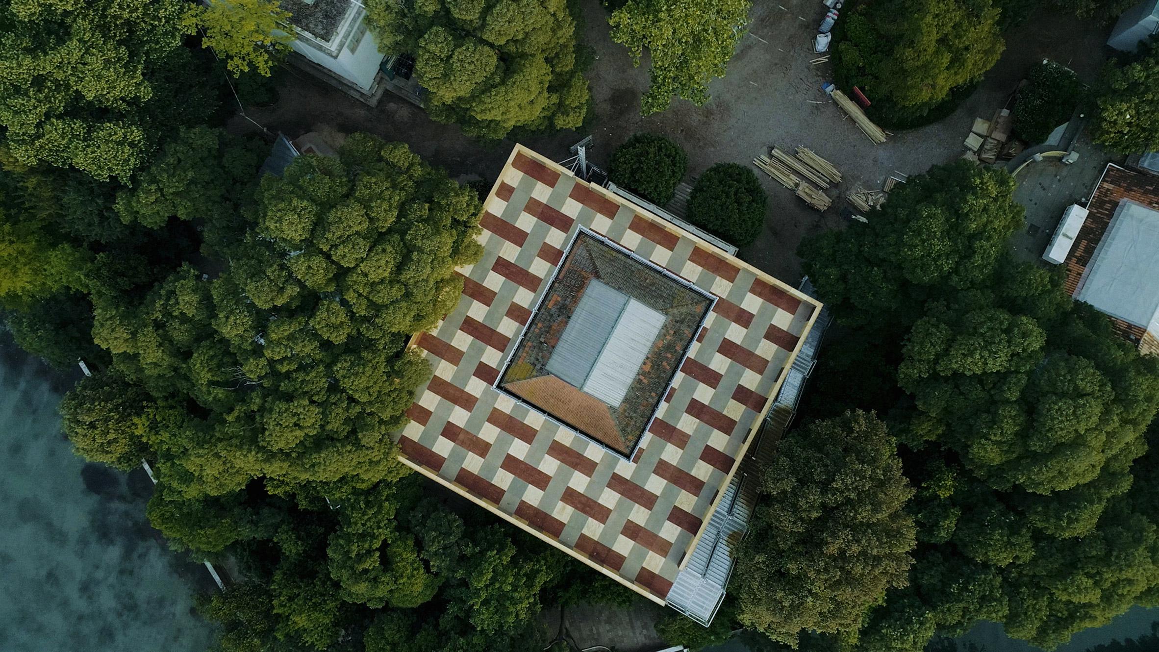 British Pavilion Venice Architecture Biennale, drone photography by Cultureshock Media