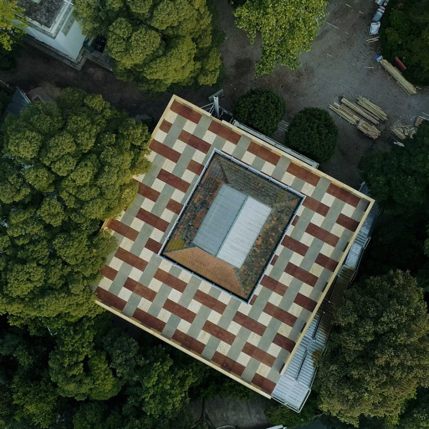 British Pavilion Venice Architecture Biennale, drone photography by Cultureshock Media