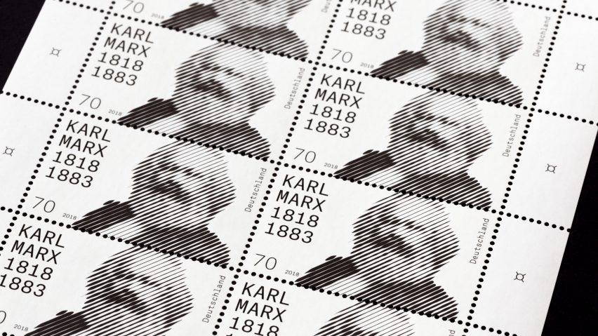 Commemorative Karl Marx stamp celebrates economist's 200th birthday