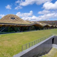 Rolling wildflower roof covers Rogers Stirk Harbour + Partners-designed Scottish distillery