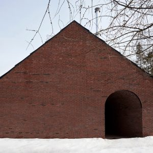 Minimalist art and horse stables influence rural Gauthier Residence