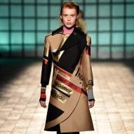 Mary Katrantzou combines Bauhaus and Arts and Crafts graphics in fashion collection