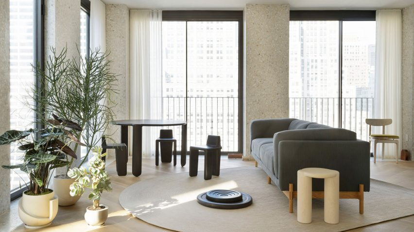 fabric interiors new york best interior designers Radnor curates model apartment at Chipperfieldu0027s The Bryant in New York
