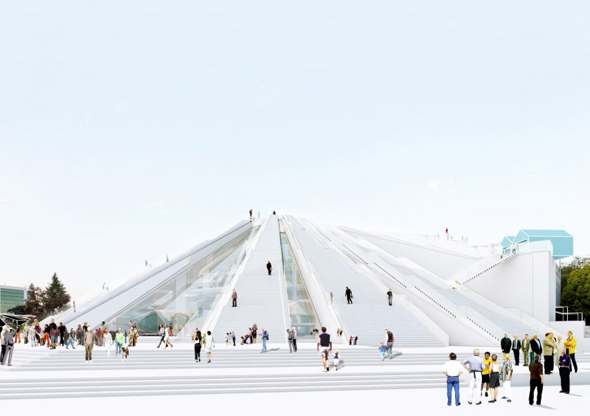 Tirana pyramid by MVRDV